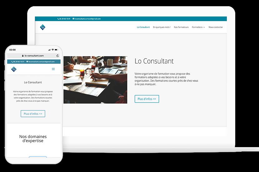 Création du site internet loconsultant.com - Montargis