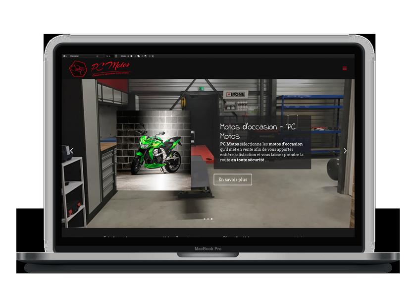 Création de site internet, Webdesign, Logo – PC Motos