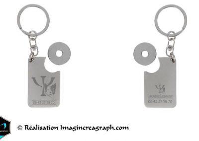 © Maquette de présentation de portes clefs métal