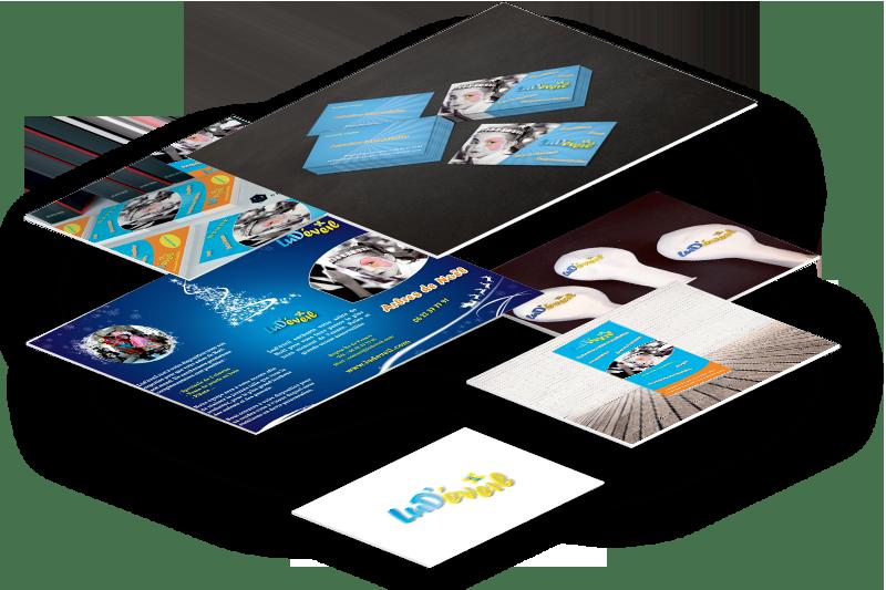 Logo, flyers, dépliants, signalétique, kakémonos, goodies (objets publicitaires) pour Ludéveil