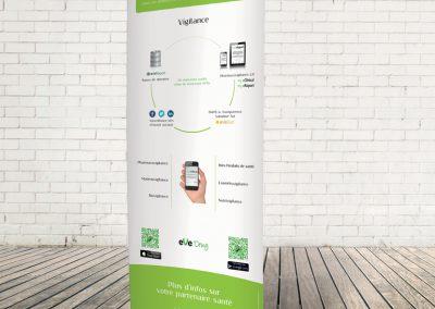 Signalétique - Roll-up haut de gamme bambou - EveDrug