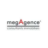 Logo de Megagence - agence immobilière - Graphiste, agence de communication Loiret